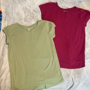 Children's place Size 10/12 Green & Maroon Tees